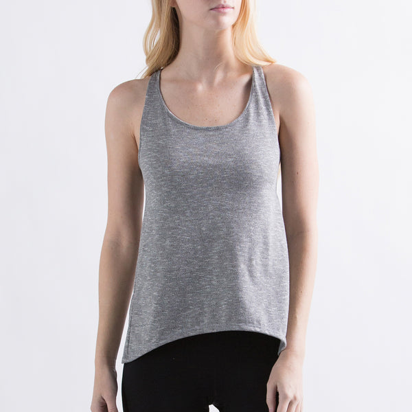 Women's The Perfect Casual Split-Back Tank Grey Melange