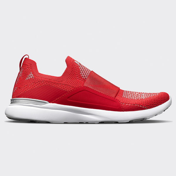 Men's TechLoom Bliss Red / Metallic Silver / White