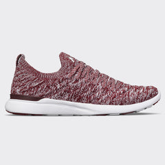 Men's TechLoom Wave Burgundy / White / Melange