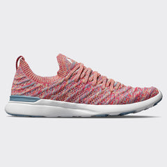 Women's TechLoom Wave Grey Denim / Vivid Peach / Ruby