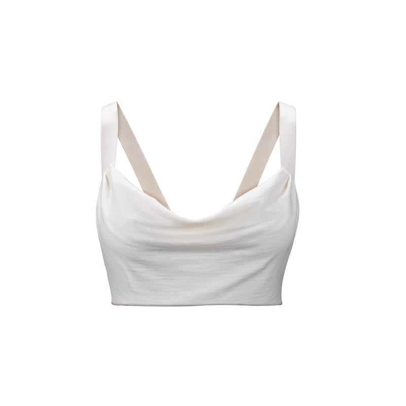 Women's The Perfect Wool Cowl Neck Top Off White