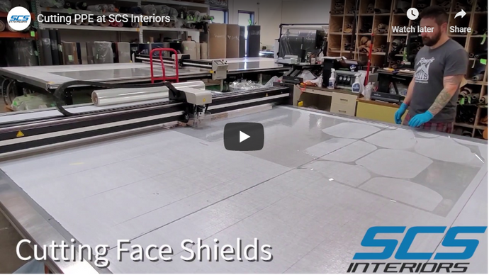 Cutting PPE at SCS Interiors (video)