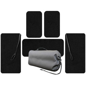 Crew, Passenger And Wing Set Of Floor Mats For Cirrus Aircraft Without A/C, Heat, or Fanbox