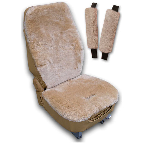 You may also be interested in purchasing sheepskin seat belt covers..