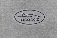 Sample of Embroidered Tail Number and Premium Logo