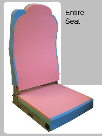 Passenger Foam Kit:  Entire Seat