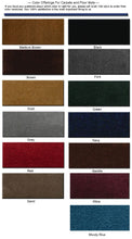 Carpet and Binding Colors