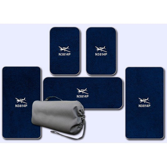 Cirrus Custom Crew Passenger and Wing Mats for aircraft without A/C