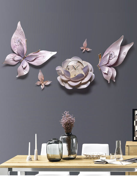 Beautifully Designed Butterfly Wall Clock