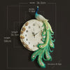 European Style Peacock Wall Clock