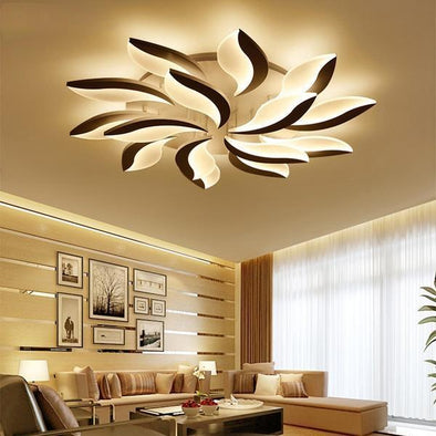 White Modern LED Ceiling Lights for Living Room
