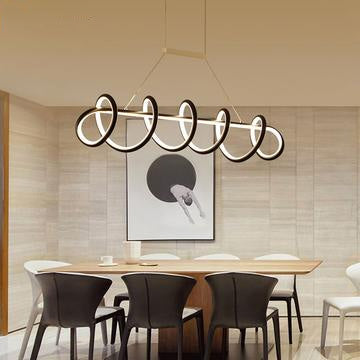 Black & White Modern LED Chandeliers