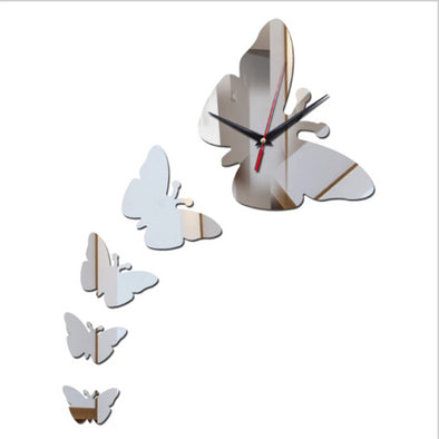 3D Acrylic Butterfly DIY Wall Clock Sticker