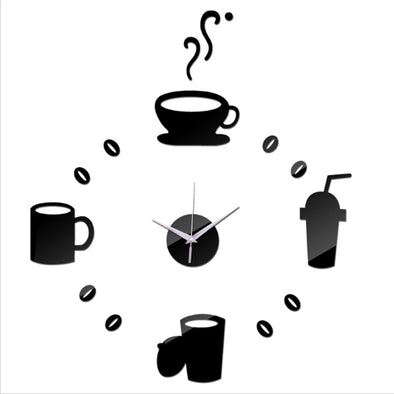 Coffee Time Wall Clock Sticker