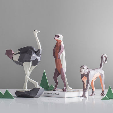 Geometric Animal Figurines