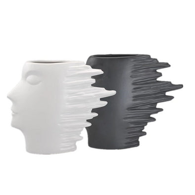 Ceramic Wind Face Utensils Figurines