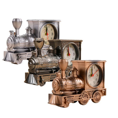 Antique Locomotive Alarm Clock Figurines