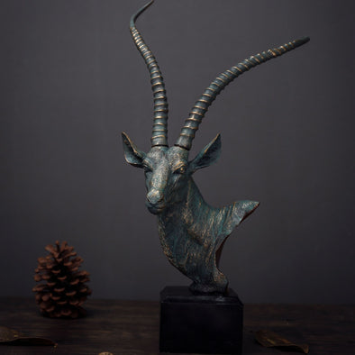 European Style Resin Crafts Antelope Head Ornaments