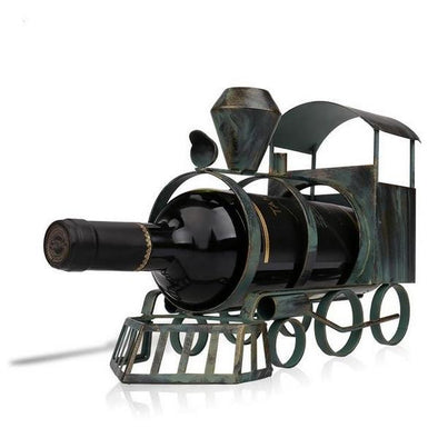 Artistic Train Shaped Metal Wine Bottle Holder 4