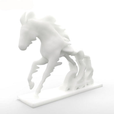 Unique Horse Race Against Time 3D Printing Sculpture