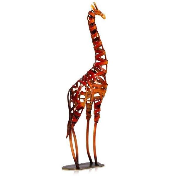 Decorative Iron braided Giraffe Metal Sculpture 6