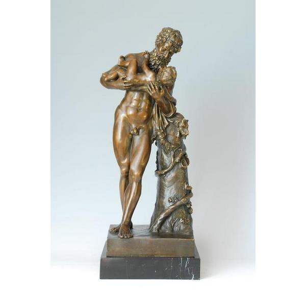 Decorative Man with His Son Bronze Sculpture 1