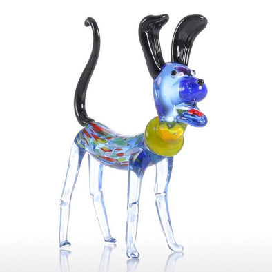 Long Ear Dog Decorative Figurine Glass Sculpture  - 3