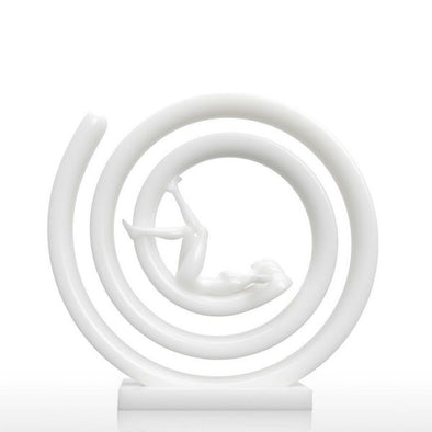 Digital Sculpture of 3D Printed Resting Girl 1