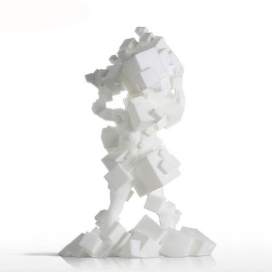 White Chaos Cube 3D Printed Sculpture