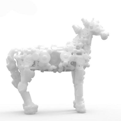 3D Printed Mechanical Horse Digital Sculpture