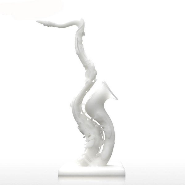 Deformed Saxophone 3D Printed Sculpture