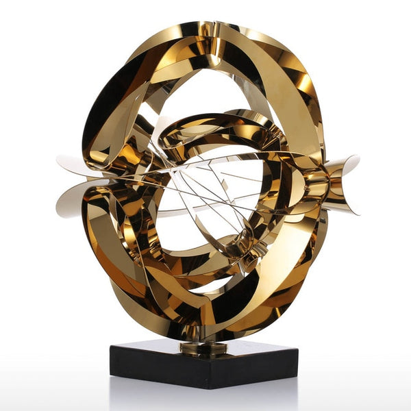 Dream Flower Metal Abstract Figurine - 4