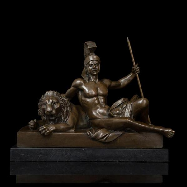 Ancient Statue of Life of a King Bronze Sculpture