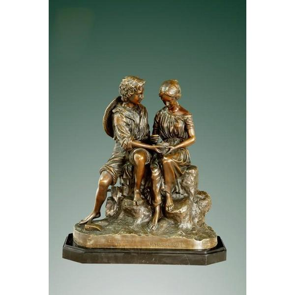 Bronze Love Birds Decorative Statue Showpiece 1
