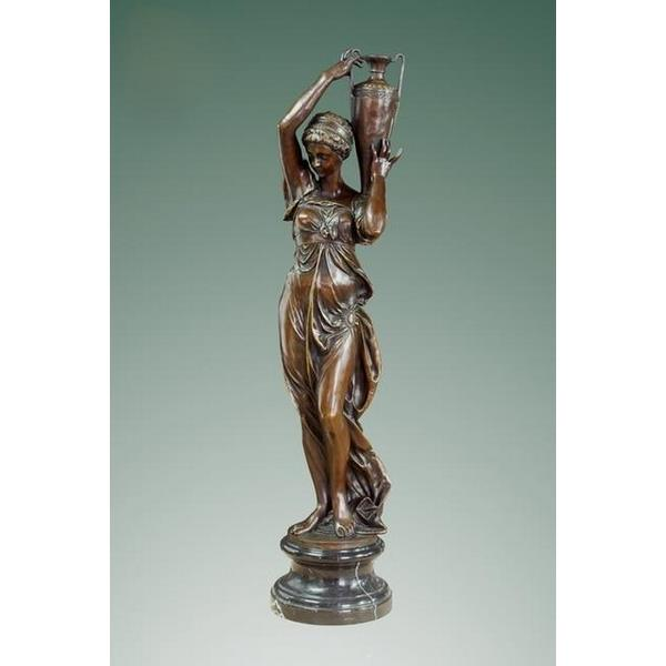 Woman with Vase Bronze Sculpture