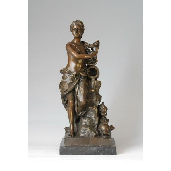 Classic Water Lady Bronze Statue 1