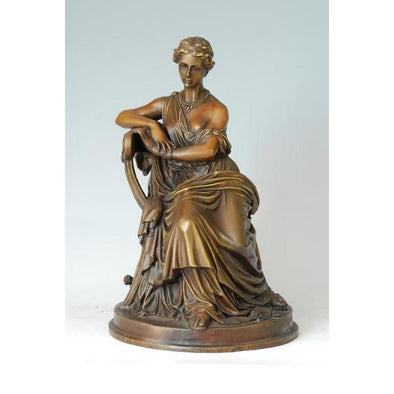 Antique Sappho Figurine Decorative Sculpture