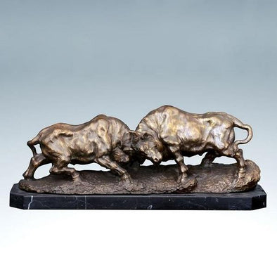 Modern Bullfight Bronze Sculpture