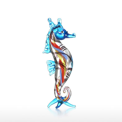 Miniature Little Seahorse Glass Sculpture