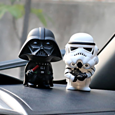 Star Wars Action Figure Darth Vader Stormtroopers Car Model