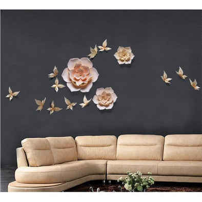 3D Resin Butterfly wall sticker decorations