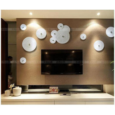 3D Stereo Solid Circular Resin Wall Decoration