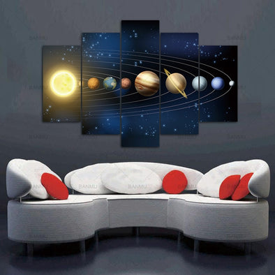 Solar System Wall Art Canvas Painting