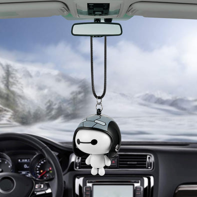 Cute Robot Helmet Car Pendant for Car Decoration
