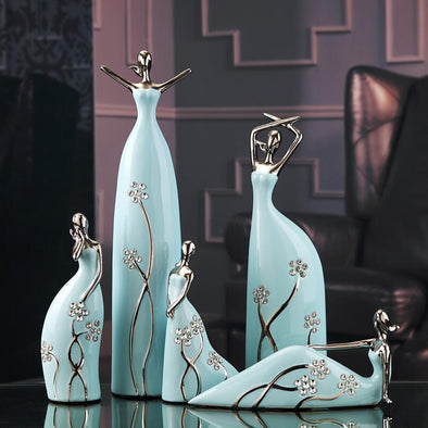 Jingdezhen Ceramic Figure Sculpture Miss Ballet Figures 1