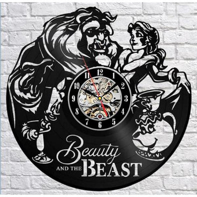 Vinyl Record Beauty and Beast Quartz Wall Clock