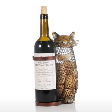 Handmade Cat Wine Rack & Cork Container 2