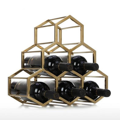 Honeycomb Wine Rack Sculpture