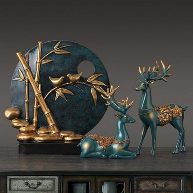 Deers and Birds Decorative Figurine 2