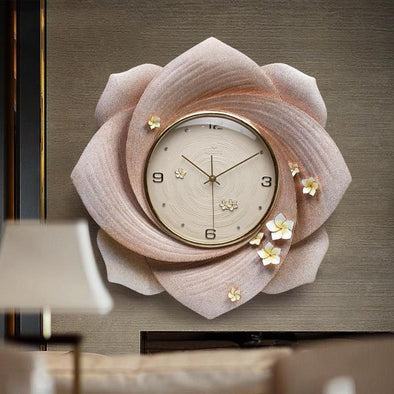 Modern Luxury Emboss Resin Wall Clock